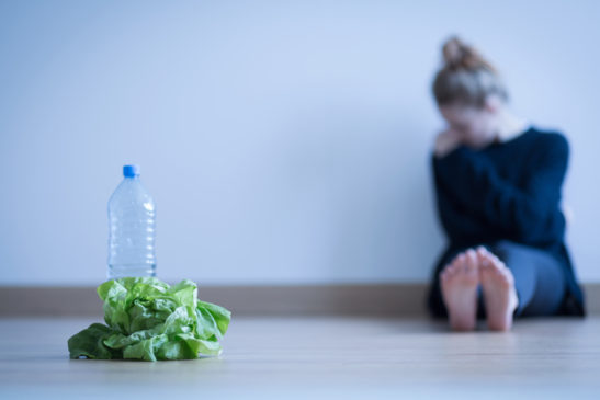 Girl with eating disorder